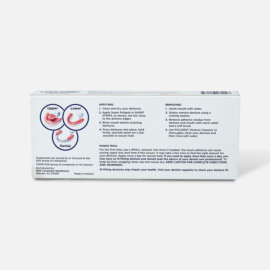 Super Poligrip Free Formula Zinc Free Denture Adhesive Cream - Twin Pack, , large image number 1