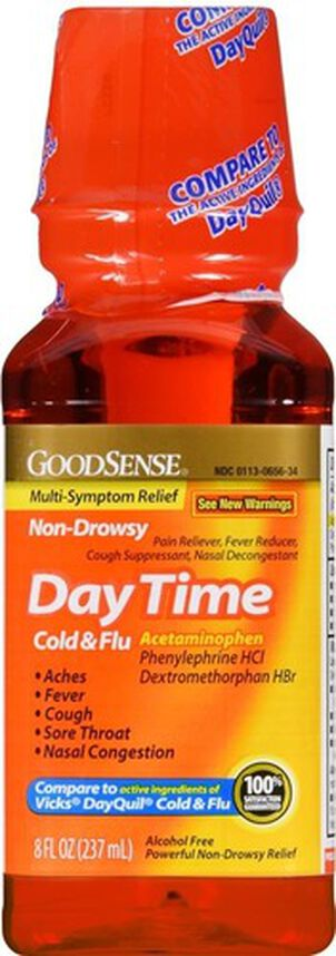 GoodSense® Daytime Cold and Flu Multi Symptom Non Drowsy, 8 oz