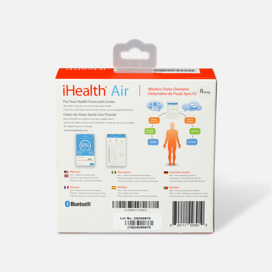 iHealth Air PO3M Pulse Oximeter, , large image number 1