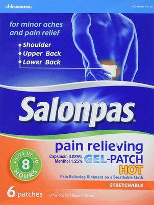 Salonpas Hot Gel Patch, 6 ct