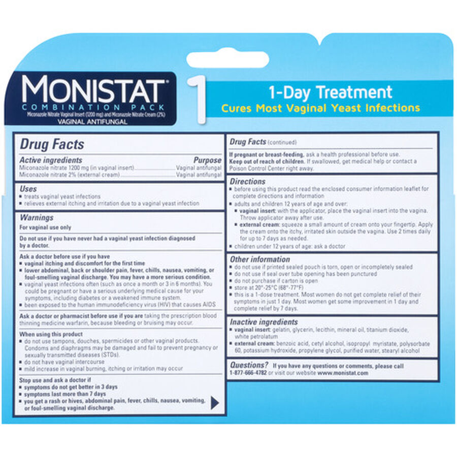 Monistat 1, Cure and Itch Relief, , large image number 1