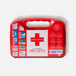Johnson & Johnson Red Cross® All Purpose First Aid Kit, 140 Items