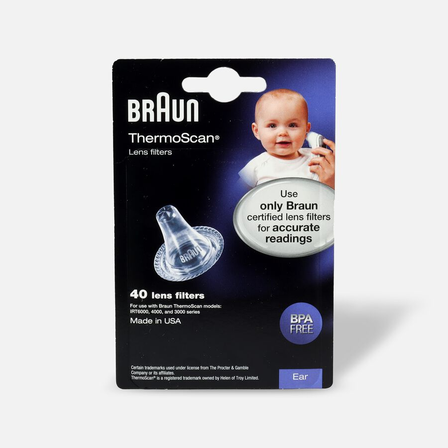Braun Thermoscan Lens Filters, LF-40, 40 ea, , large image number 0