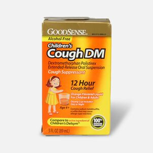 GoodSense® Children's Cough DM 12 Hr Cough Release, Orange (Alcohol Free), 3 fl oz