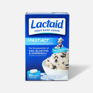 Lactaid Fast Act Lactase Enzyme Supplement, Caplets, 60 ea