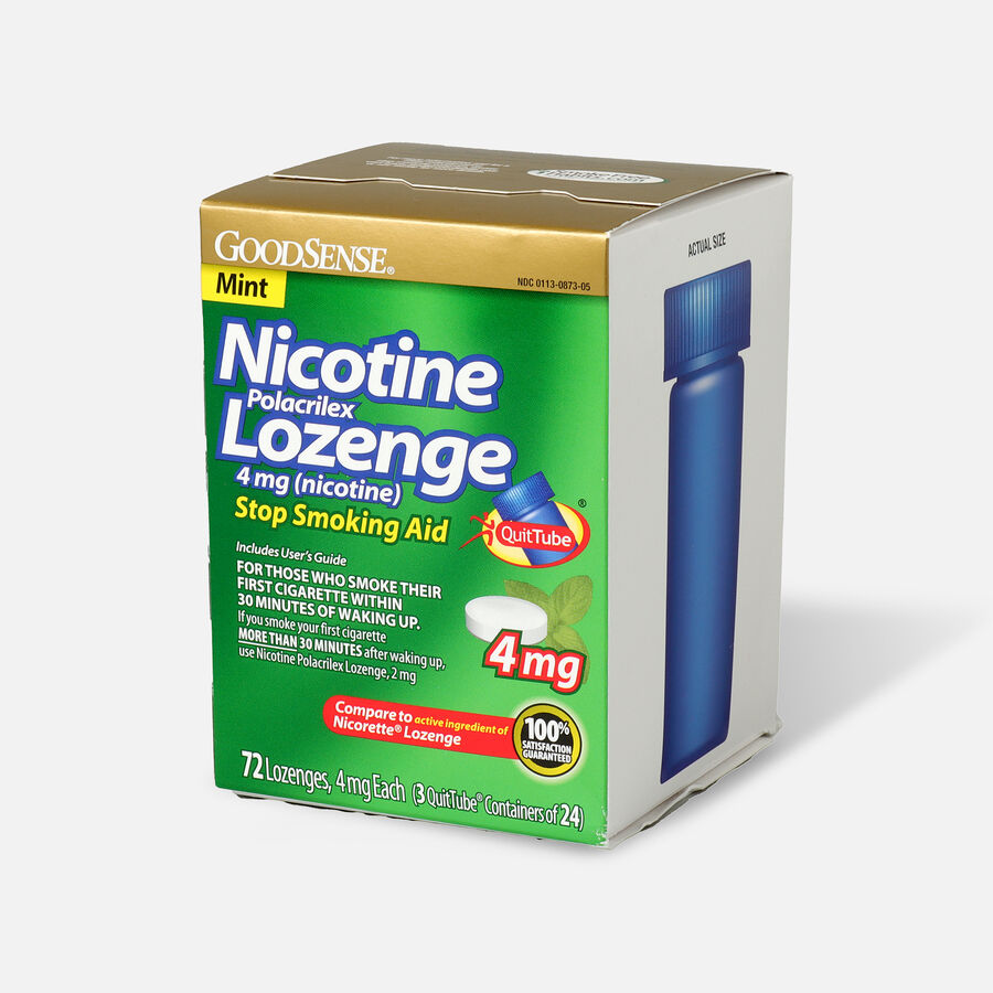 GoodSense® Nicotine Polacrilex Lozenges, 4 mg (nicotine), Mint Flavor,72 ct, , large image number 2