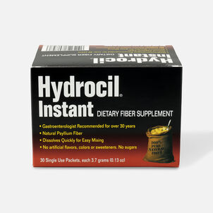 Hydrocil Instant Dietary Fiber Laxative & Supplement, 30 Single Use Packets