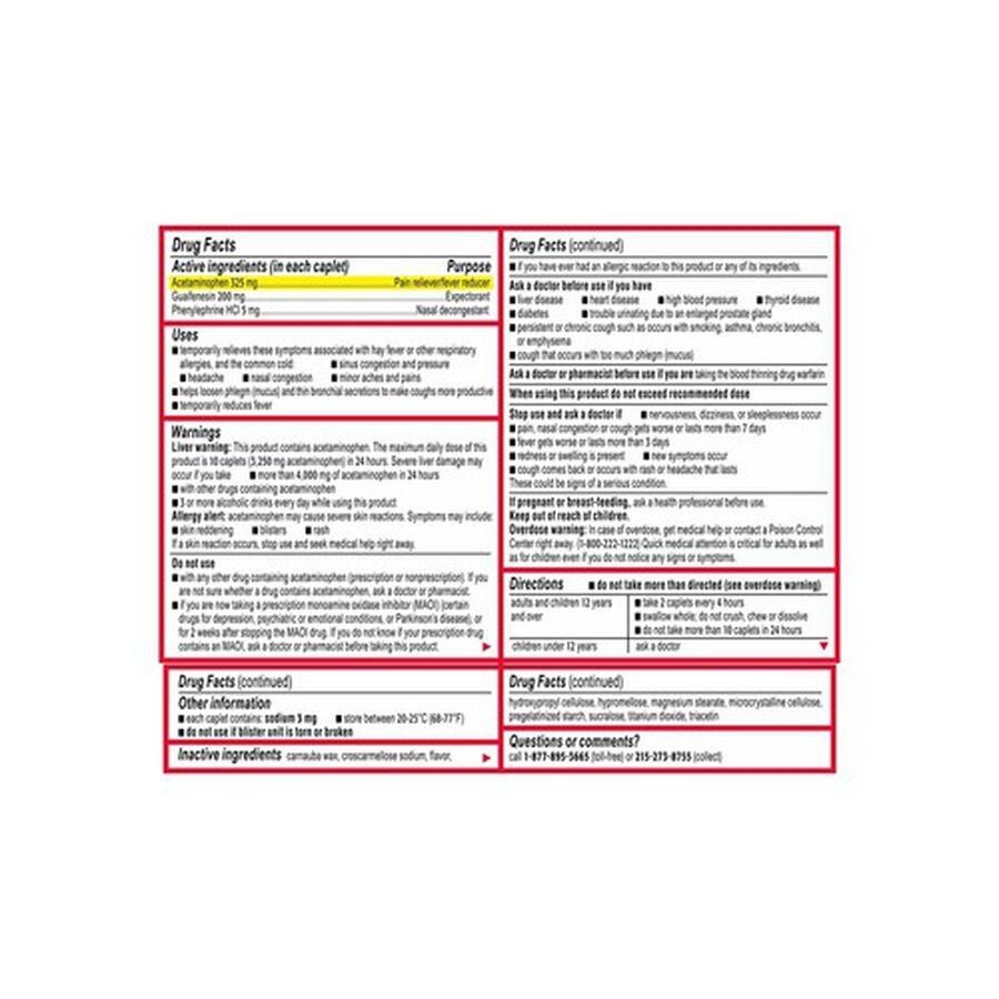 Tylenol Sinus Severe Daytime Caplet, 24 ct, , large image number 2