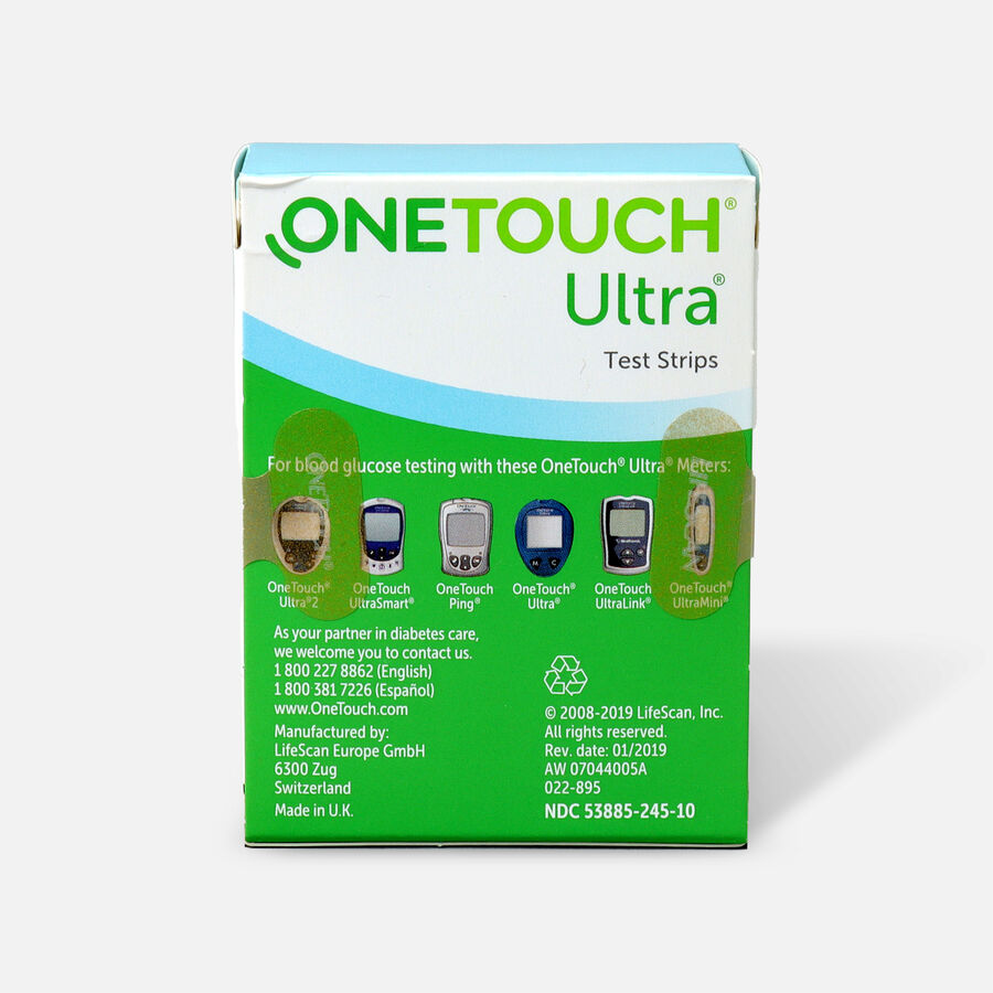 OneTouch Ultra Blue Test Strips, 100 ea, , large image number 1