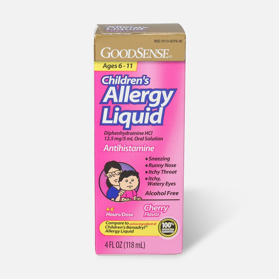 GoodSense® Children's Allergy Liquid for Allergy Relief, Cherry Flavor, 4 fl oz, , large image number 0